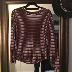 Basic striped long sleeve - very soft